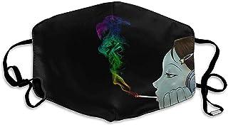 Comfortable Adjustable Headphones Goth Gothic Girl Smoke Marijuana Weed Black Printed Facial Ma.sk Decorations For Women And Men