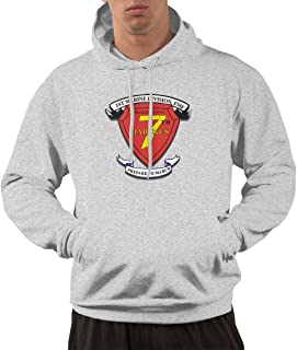 1st Marine Division 7th Marine Regiment Mens Hoodies Hooded Sweatshirt with Pocket