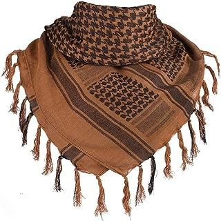 "FFNIU Arabic Tactical Scarf Desert Shemagh Style Keffiyeh Military Neck Scarf 43"" x 43"" - 100% Cotton"