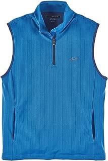Greg Norman 1/4 Zip Sleeveless Sweater Vest Blue L