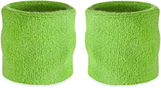 Suddora Wrist Sweatbands - Athletic Cotton Terry Cloth Wrist Bands for Basketball, Tennis, Football, Baseball (Pair)