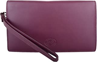 Womens Large Soft Leather RFID Money/Credit Card Clutch Purse/Pouch