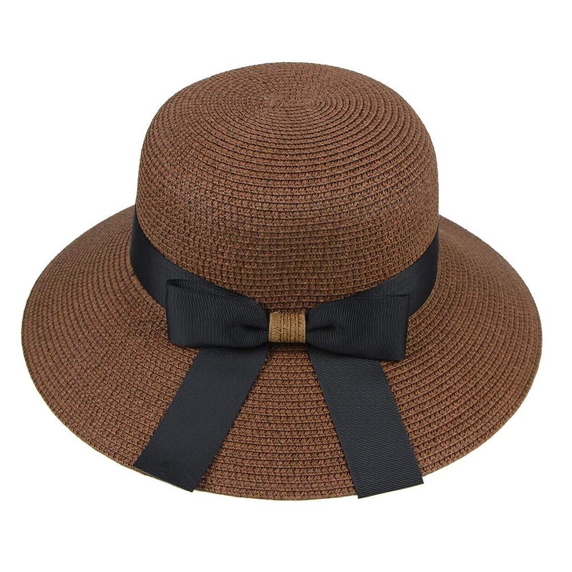 熟考するスクリーチ平和な漁師帽 帽子 レディース UVカット 帽子 夏季 海 旅行 UV帽子 日焼け防止 つば広 取り外すあご紐 おしゃれ 可愛い ワイルド カジュアル スタイル ファッション シンプル 夏 ビーチ 必須 小顔効果 ROSE ROMAN