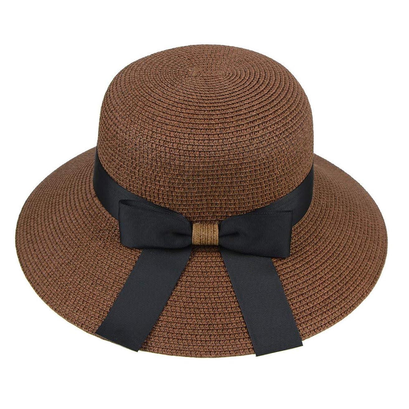 裏切り者導入する不良品漁師帽 帽子 レディース UVカット 帽子 夏季 海 旅行 UV帽子 日焼け防止 つば広 取り外すあご紐 おしゃれ 可愛い ワイルド カジュアル スタイル ファッション シンプル 夏 ビーチ 必須 小顔効果 ROSE ROMAN