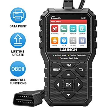 LAUNCH OBD2 Scanner CR529 Code Reader with Full OBD2 Function, Automotive Diagnostic Scan Tool for Check Engine Light, Pass Emission Test, Advanced Version of 319