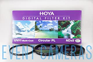 Hoya 46mm (HMC UV / Circular Polarizer / ND8) 3 Digital Filter Set with Pouch