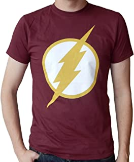 The Flash Logo CW TV Show Licensed Logo Mens Maroon T-Shirt