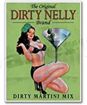 Gallery Prints Dirty Nelly Irish Martini Mix Vintage Bar Art Poster Advertisement Pinup Girl Print - Measures 24