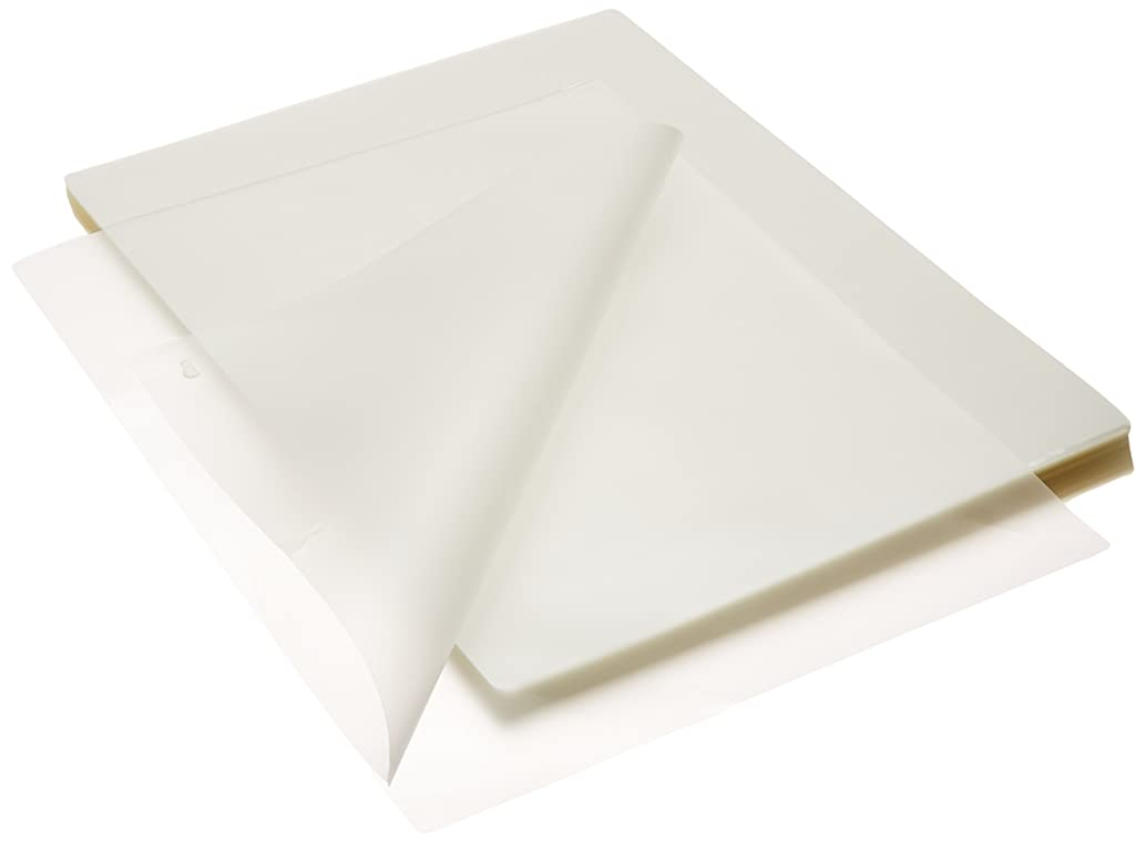 School Smart Laminating Pouches, 9 x 11-1/2 Inches, 3 mil Thick, Pack of 100