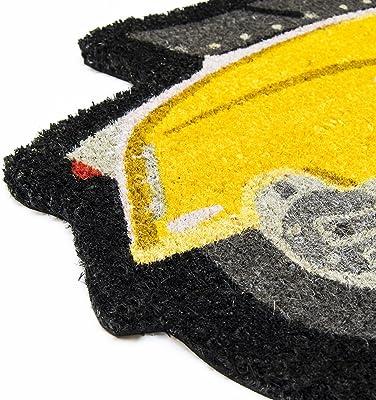Lambretta LADM02 Doormat, Coconut Fibre, Yellow, 80x40x2 cm