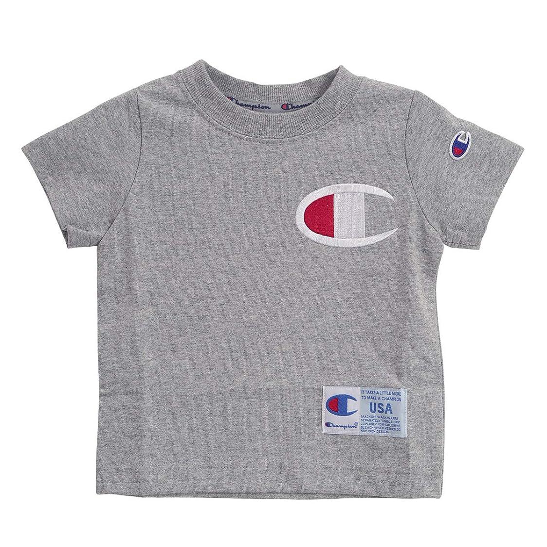 環境保護主義者レジ光沢(チャンピオン)Champion キッズ 男の子 女の子 ビッグロゴ 半袖 Tシャツ 子供服 90cm-140cm