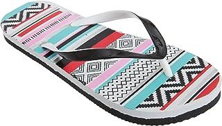 FLOSO Womens/Ladies Aztec Pattern Toe Post Flip Flops