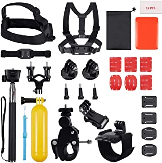 House of Quirk 30 in 1 Action Camera Accessory Kit Bundle Compatible for GoPro Hero 6 5 4 3/SJCAM/Akaso/Apeman/Xiaomi Yi Action Camera (30 in 1)
