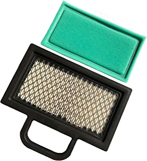 HEYZLASS 499486S 698754 Air Filter, for Briggs Stratton 499486 Lawn Mower Air Filter Cartridge, Fit B&S 18-26 HP Intek V-Twins Engine Air Cleaner