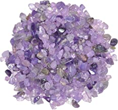 Hypnotic Gems: 1 lb of Polished Light Amethyst Natural Rock Chips with Info Card - Tumbled Stones for Vases, Fountains, Art and Crafts, Jewelry Making, Crystal Healing and More!