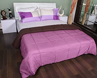 Bombay Dyeing Slumber Reversible Double Quilt - Coffee