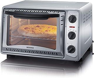 SEVERIN Mini-Four 20 L, Inclus : Grille et Lèche frites, Minuteur 60 min, 1 500 W, Inox/Noir, TO 2045