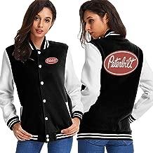 Peterbilt Trucks Women's Plus Velvet School Jacket Jacket Personalized Baseball Jacket Uniform Sweater Coat