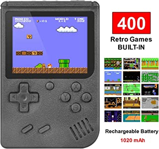 TAPDRA Handheld Game Machine, Retro Game with 400 Classic Games 3.0 inch Screen Portable Game Controller, Good Gifts for Kids