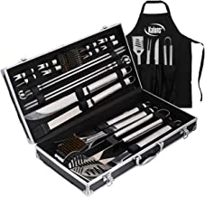 Deluxe Grill Set, Grill Accessories, 21 Piece Grilling Set, Heavy Duty Stainless Steel BBQ Tools Professional Grilling Acc...