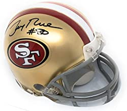 Jerry Rice San Francisco 49ers Signed Autograph Mini Helmet Steiner Sports Certified