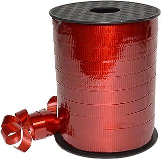 "Morex Ribbon, Polypropylene, 3/8 inch by 250 Yards, Red, Item 18310/250-609 Lucky Glossy Curling Ribbon, 3/8"" x 250 yd"