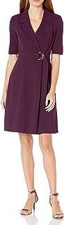 Calvin Klein Women's Elbow Sleeve A-line Coat Dress