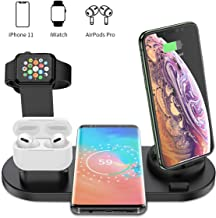 Wireless Charger, Acokki 4 in 1 Wireless Charging Stand for Apple Watch and Airpod, Charging Station for Multiple Devices,Qi Fast Charging Dock for iPhone Samsung