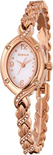 Women's Japanese-Quartz Fashion Wrist Watch Silver Rose Gold Tone Stainless Steel Strap