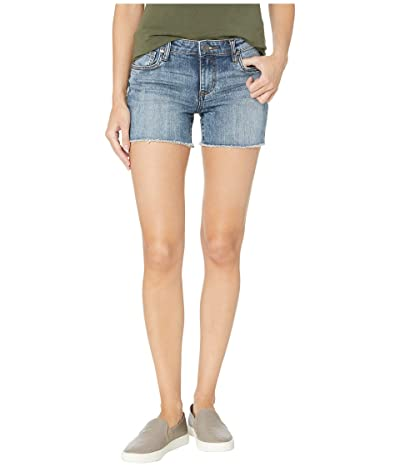 KUT from the Kloth Gidget Fray Shorts in Reflective w/ Medium Base Wash (Reflective w/ Medium Base Wash) Women