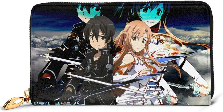 Sword Art Online Kirito Mesa Mall Asuna Anime int Rapid rise Leather Wallet Women Men