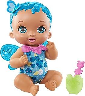 My Garden Baby poupon bébé papillon se régale senteur myrtille 30cm avec 2 accessoires à plonger dans l'eau, poupée parfu...
