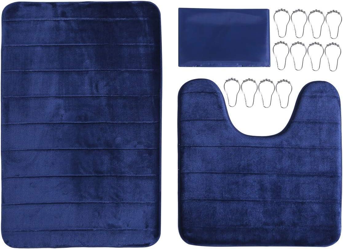 WPM WORLD PRODUCTS MART Navy Blue Rugs Bathroom Sets Memory Foam online Phoenix Mall shopping