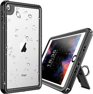 iPad Mini 5 Waterproof Case,Temdan iPad Mini 5 Waterproof Case with Adjustable Tablet Stand Built-in Screen Protector Rugged Waterproof Shockproof Case for iPad Mini 5 (7.9inch)-Black/Clear