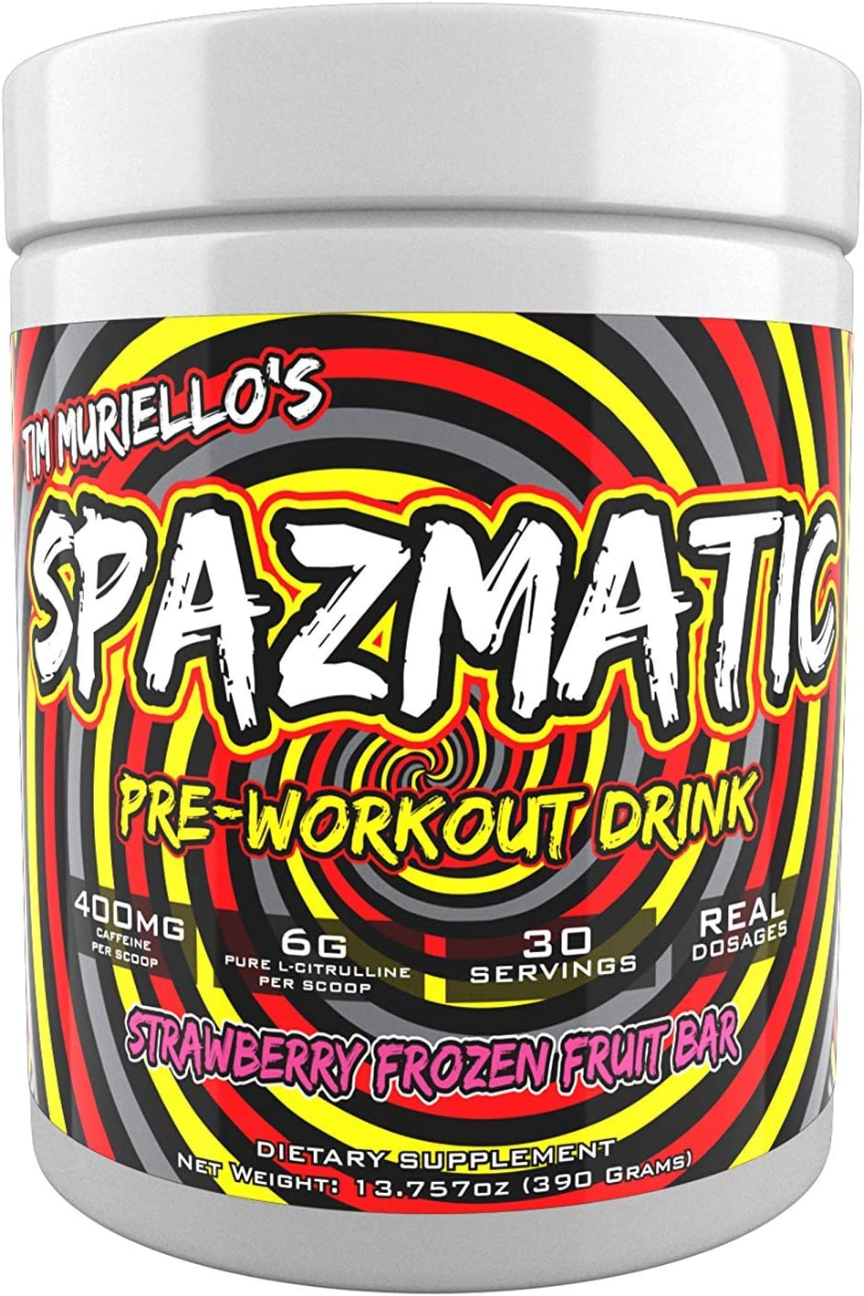 Tim Ranking integrated 1st place Muriello's Spazmatic Discount is also underway Preworkout Caffei 400mgs Strawberry -
