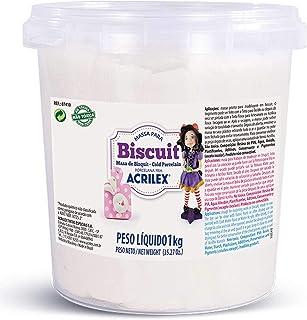 ACRILEX Massa para Biscuit, Porcelana Fria, 1KG, Blanca