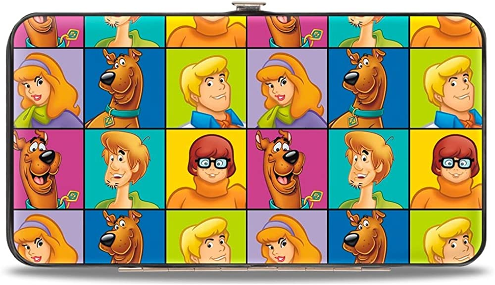 Buckle-Down unisex adults Buckle-down Hinge - Scooby Doo 5-character Face Blocks Multi Color Wallet, Multicolor, 7 x 4 US