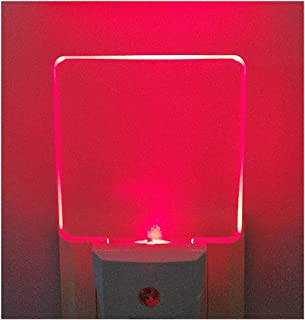2 Pack 0.5W Plug in LED Night Light with Dusk to Dawn Sensor Red