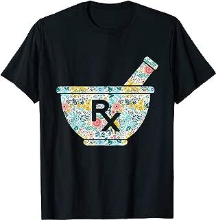 Pharmacy RX Flower Pharmacist Technician Gift T-Shirt