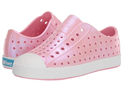 Native Kids Shoes Jefferson Iridescent (Little Kid) (Princess Pink/Shell White/Galaxy) Girls Shoes
