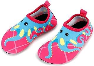 Bigib Toddler Kids Swim Water Shoes Quick Dry Non-Slip Water Skin Barefoot Sports Shoes AquaSocks for BoysGirlsToddler