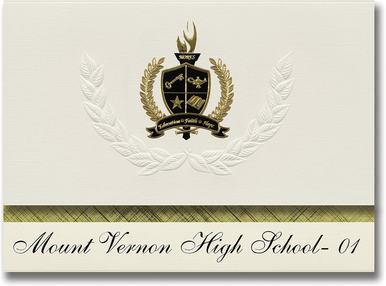 Signature Ankündigungen Mount Vernon High school- 01 (Mount (Mount (Mount Vernon (, SD) Graduation Ankündigungen, Presidential Stil, Elite Paket 25 Stück mit Gold & Schwarz Metallic Folie Dichtung B078WFVZVL      Wirtschaftlich und praktisch  54c09d