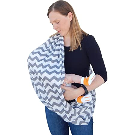 Nursing Scarf for Breastfeeding   Infinity Nursing Cover Hides Back for Privacy