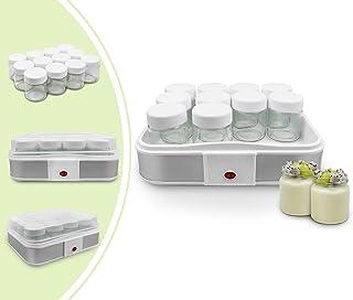 comprar comparacion Leogreen - Yogurtera, Máquina para Yogur Natural y Saludable, 12 frasco, 30,6 x 25 x 12,4 cm, Blanco, Capacidad por frasco...