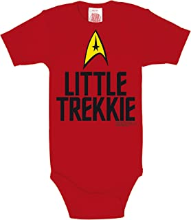 Logoshirt - Star Trek Body bébé garçon - USS Enterprise Logo - Little Trekkie Gigoteuse - Rouge - Design Original sous Lic...
