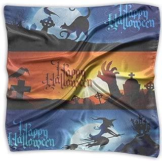 Square Scarf Halloween Handkerchief Unisex Neckerchief Tie For Men