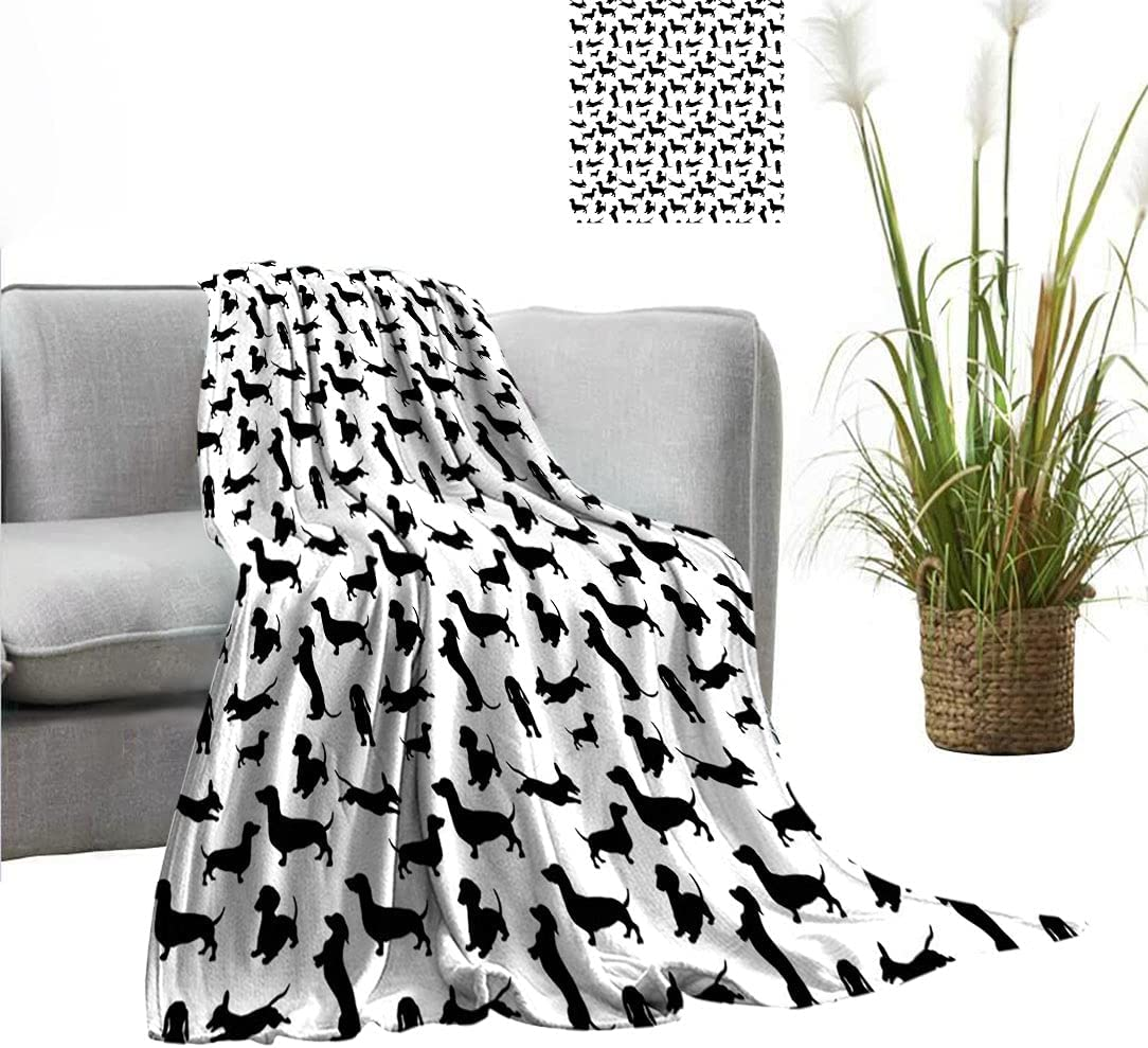Amazing Dog Lover Super Special price for a limited time sale period limited Custom Pattern Monochrome Dogs Blanket in Nume