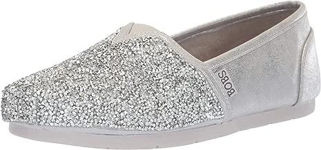 Skechers BOBS Women's Luxe Bobs-Chunky Rhinestone Slip on W Memory Foam Ballet Flat