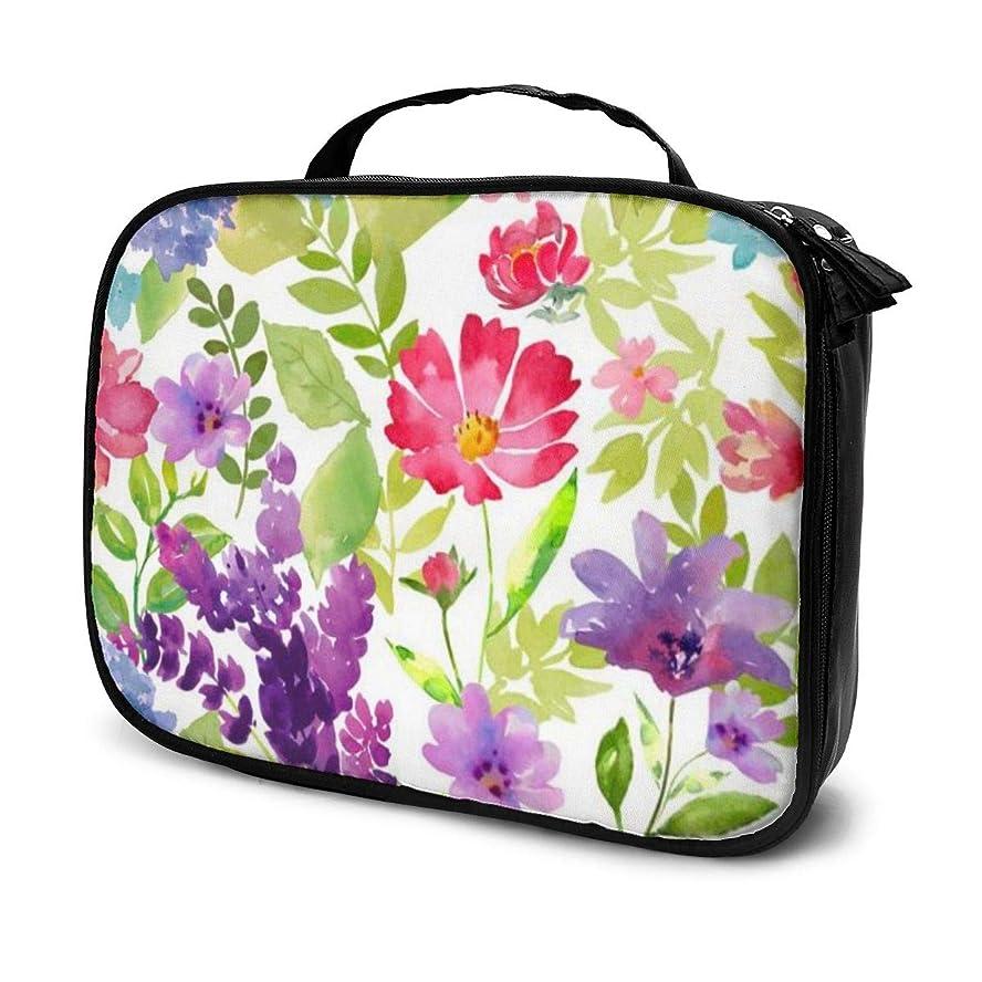 彼らのダニ学士収納袋デルフィニウムの花化粧品袋耐摩耗性軽量ポータブル高品質大容量旅行ポーチバスルームポーチ旅行小物整理約8×25×19cm