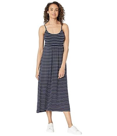 Calvin Klein Striped Rayon Span Maxi Dress Women